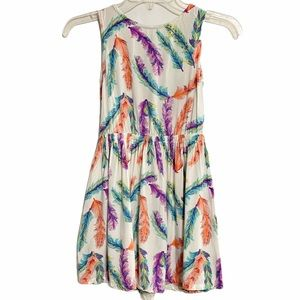 Crazy 8 Girl Feather Dress Sleeveless Sz 7